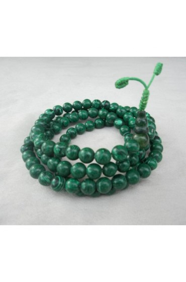 Malachite Beads Tibetan Prayer Mala for Meditation