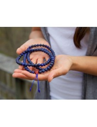108 Lapis and Coral Mala ..