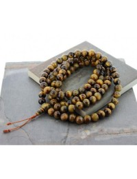 Tiger Eye Prayer  Mala For Meditation