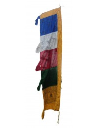 Silk High Export Quality Vertical Tibetan Pole Prayer Flag (PF-18)