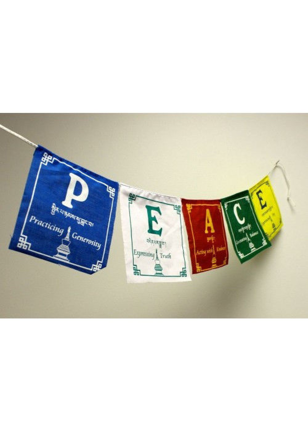 P.E.A.C.E. Prayer Flags