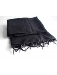 Black Himalayan Yak Wool Shawl