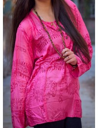 Pink Om Prayer Kurtha Shirt