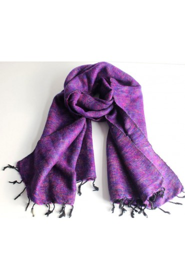 Himalayan Yak Wool Purple Shawl
