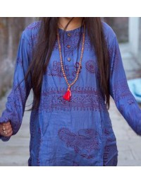 Purple Om Kurtha Shirt