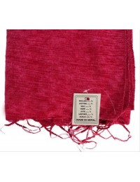 Red Himalayan Yak Wool Shawl