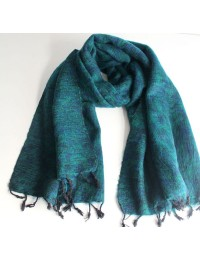 Himalayan Yak Wool Green Shawl