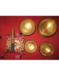 """Meditation for Peace"" Hand Hammered 4 set of Singing Bowls"