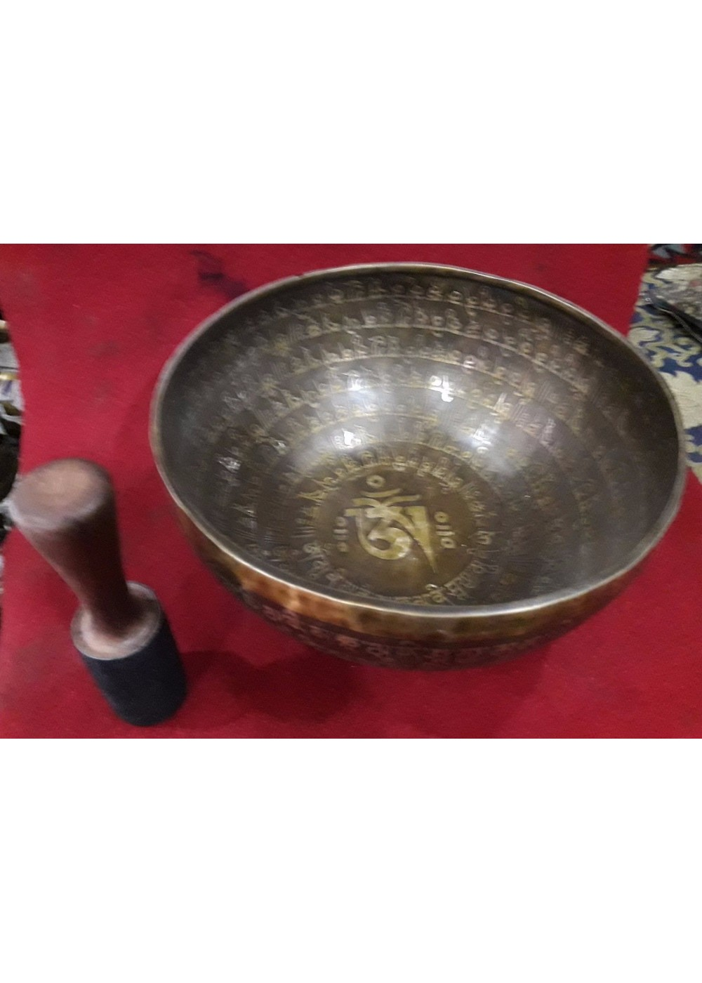 10.7 Inch Om Mane Pame Hum Itching Singing Bowl