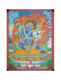 "Bajrapani Handpainted Thangka Painting(24""x15"")"